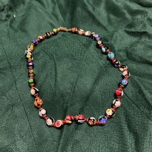Vintage glass ball necklace